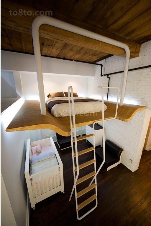 loft公寓咖啡色卧室装修效果图大全2012图片
