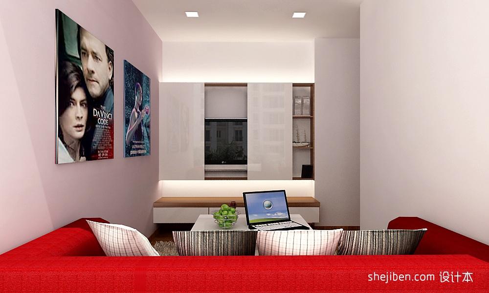 现代原木卧室电视墙