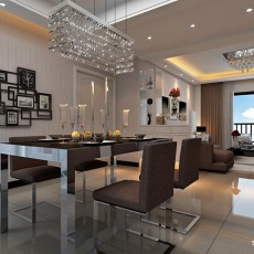 92平方三居餐厅混搭实景图