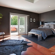 128平米现代别墅卧室效果图片