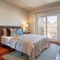 2018126平方现代别墅卧室装修设计效果图