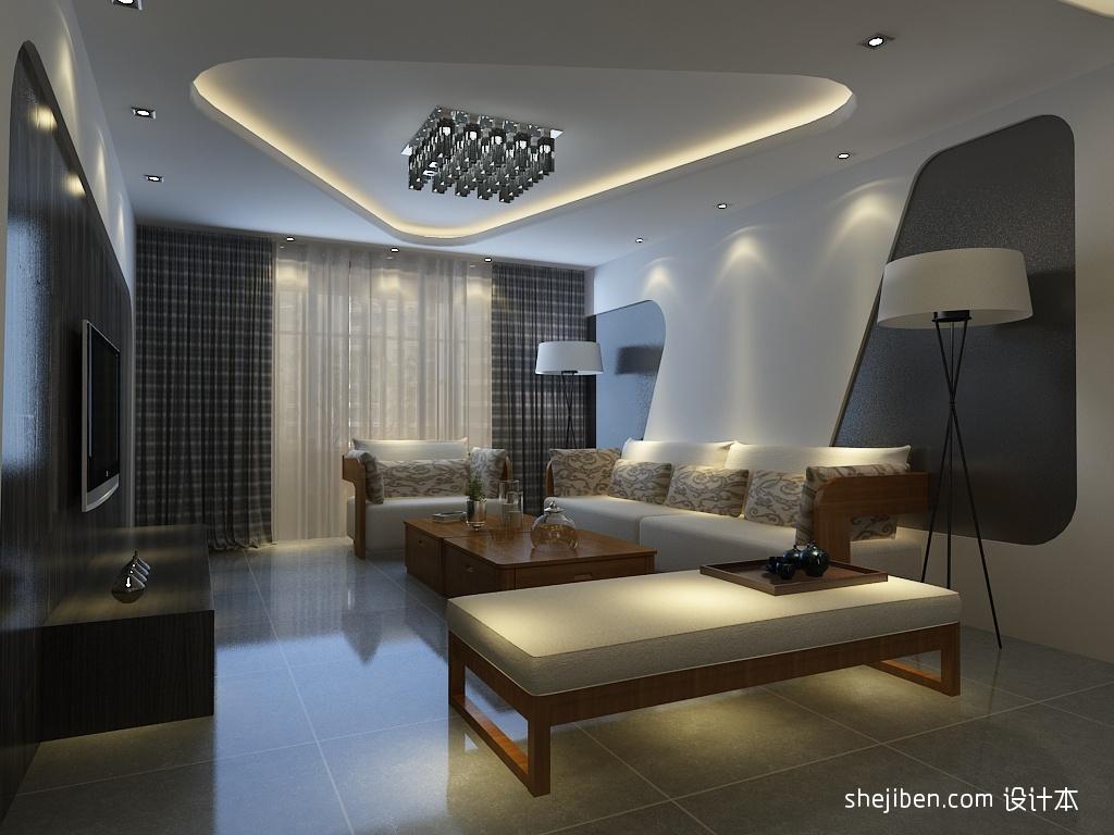 大小105平现代三居客厅装饰图片大全