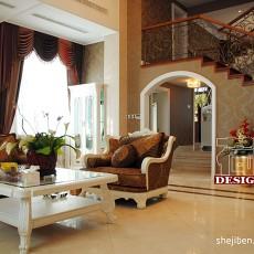 精美大小120平别墅客厅混搭实景图片