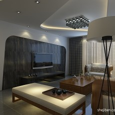 精选面积98平现代三居客厅实景图