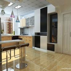 精美83平米混搭小户型厨房装修实景图