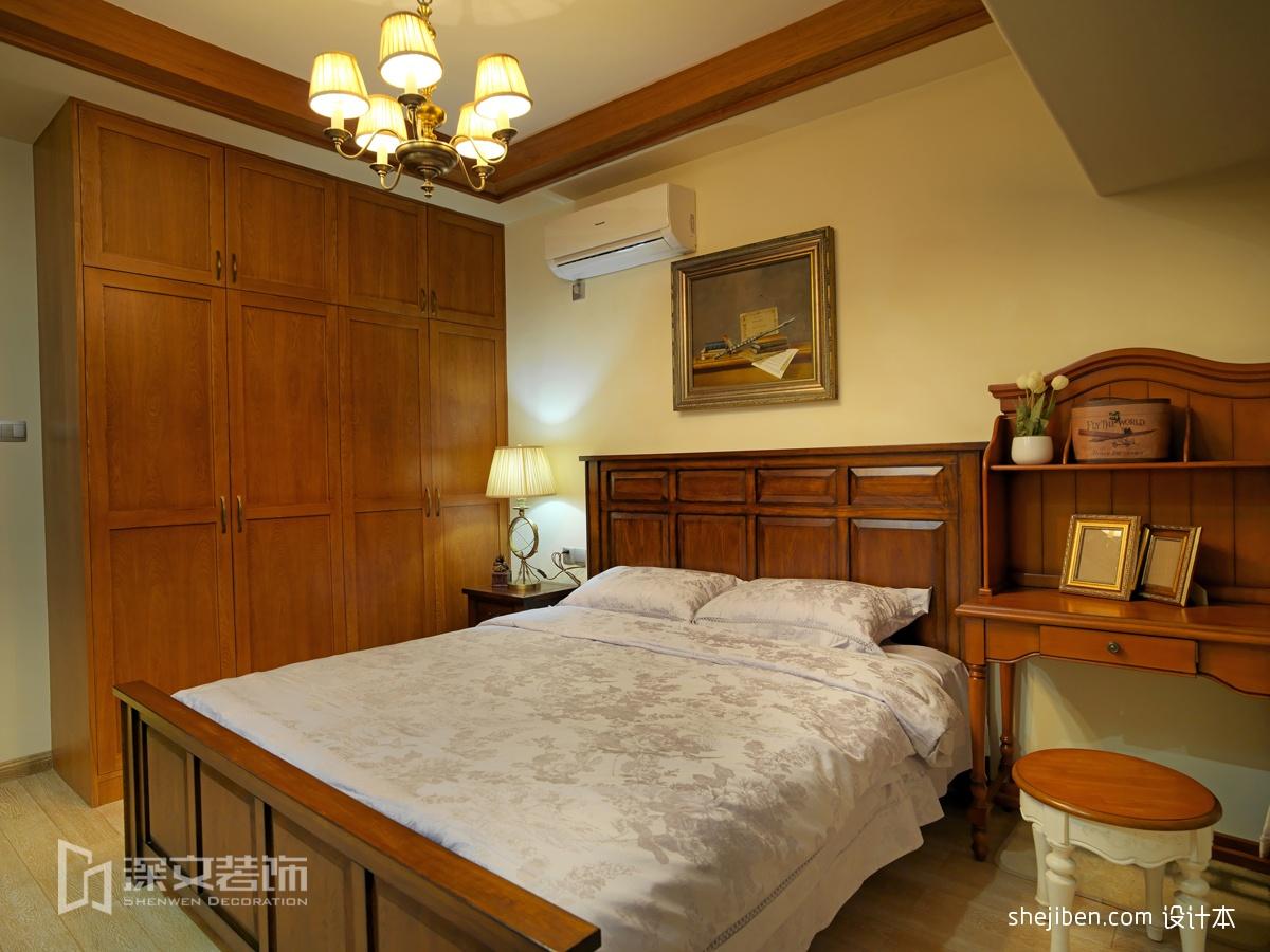 青少年卧室带书房组合柜装修效果图