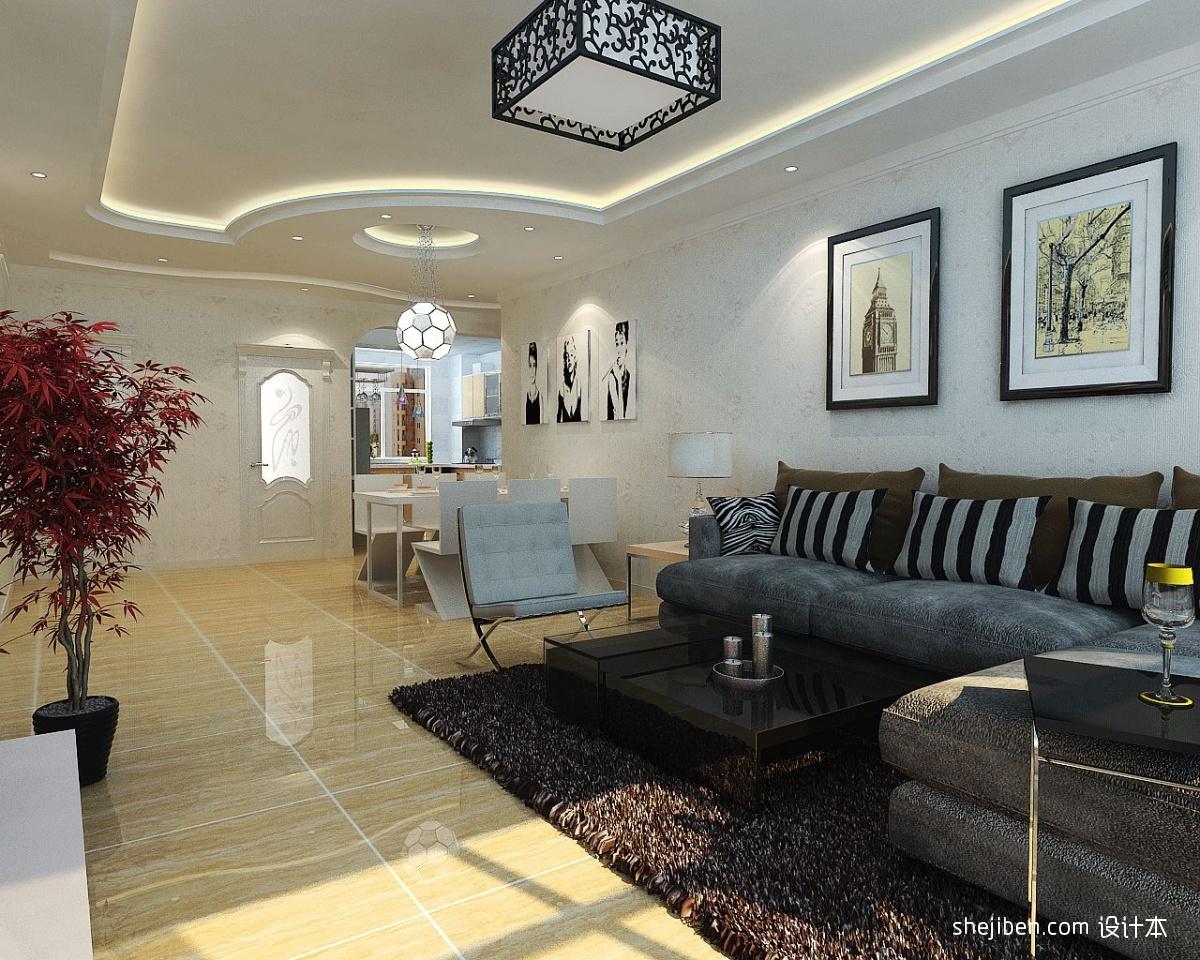 精选72平米混搭小户型客厅装饰图片欣赏