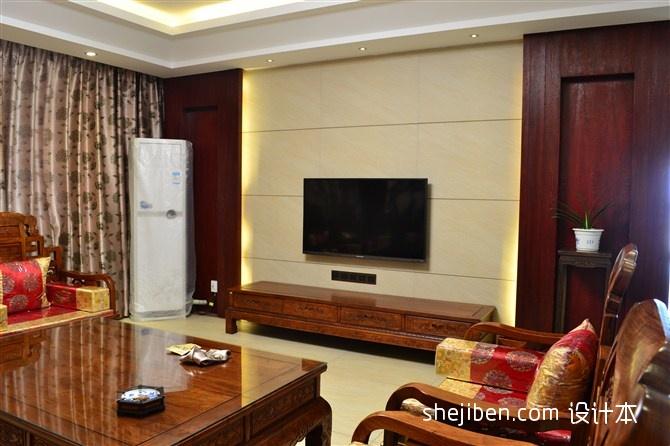 精美125平米混搭复式客厅实景图