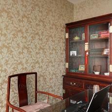 130平米中式别墅书房装修图片