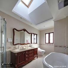 热门128平米中式别墅卫生间装饰图
