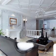 热门112平米混搭复式客厅装修实景图