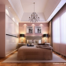92平大小现代三居装修设计效果图片欣赏