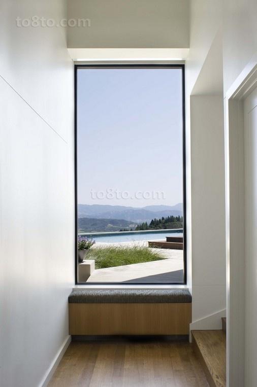 现代客厅过道飘窗装修效果图
