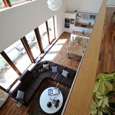 精美面积135平别墅客厅现代装修效果图