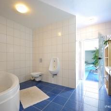 精美126平米现代别墅卫生间效果图