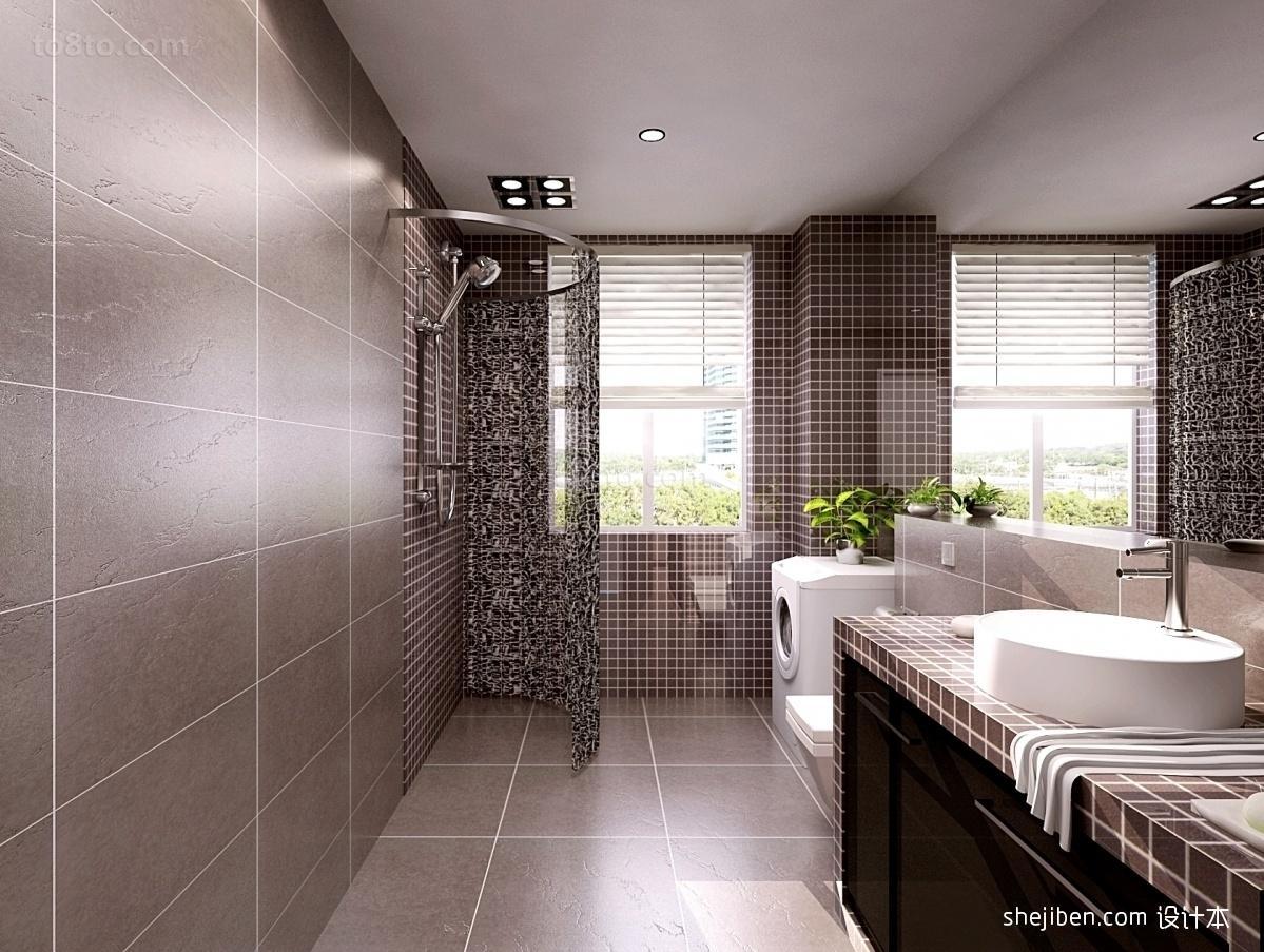 室内卫生间装修效果图大全2012图片 洗手间装修效果图
