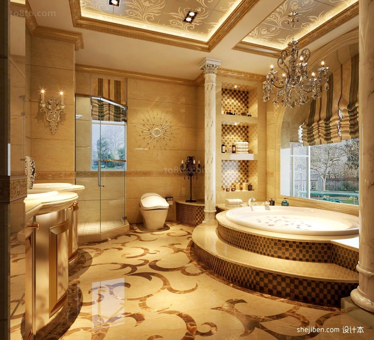 欧式风格卫生间卫生间装修效果图 卫浴装修效果图