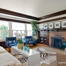 精选面积93平美式三居客厅装饰图