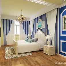 2018面积127平复式卧室混搭装修设计效果图片