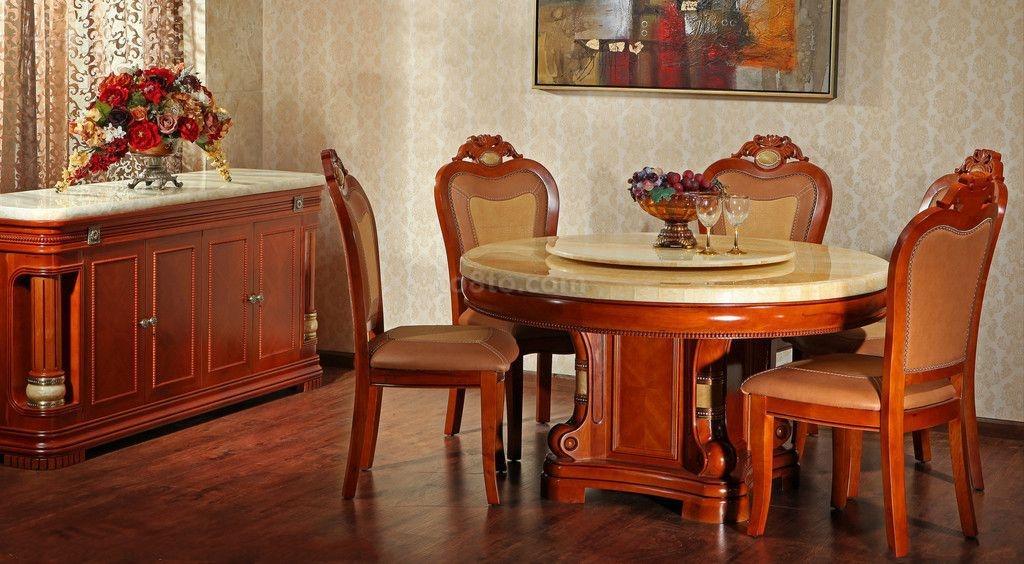 小餐厅装修效果图 红木家具圆形餐厅装修效果图