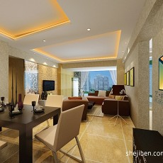 现代家居室内客厅吊顶装修效果图