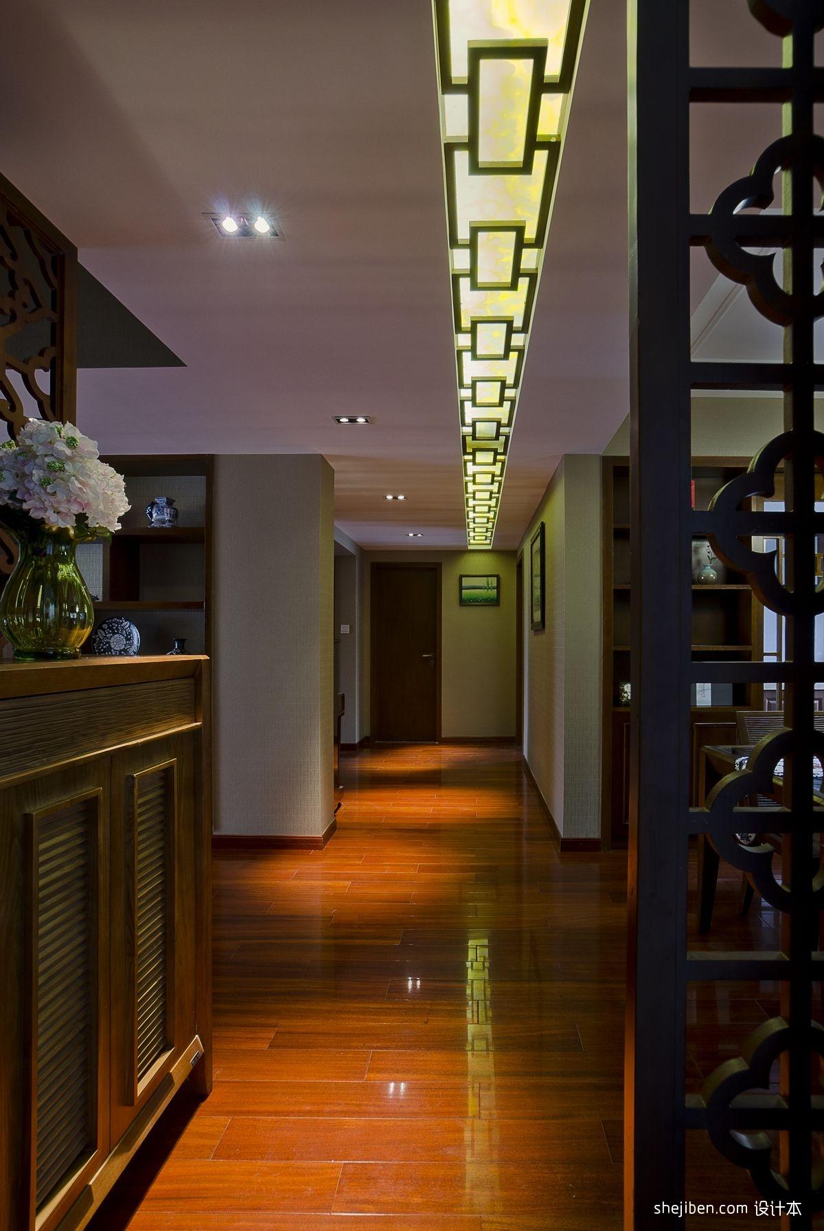 走廊过道隔断实木地板装修效果图