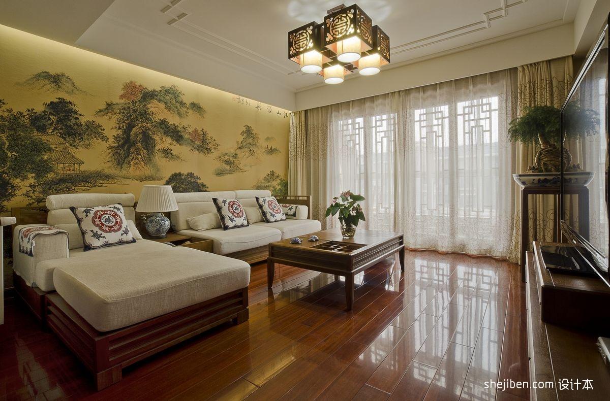 精选面积130平复式客厅混搭装饰图片