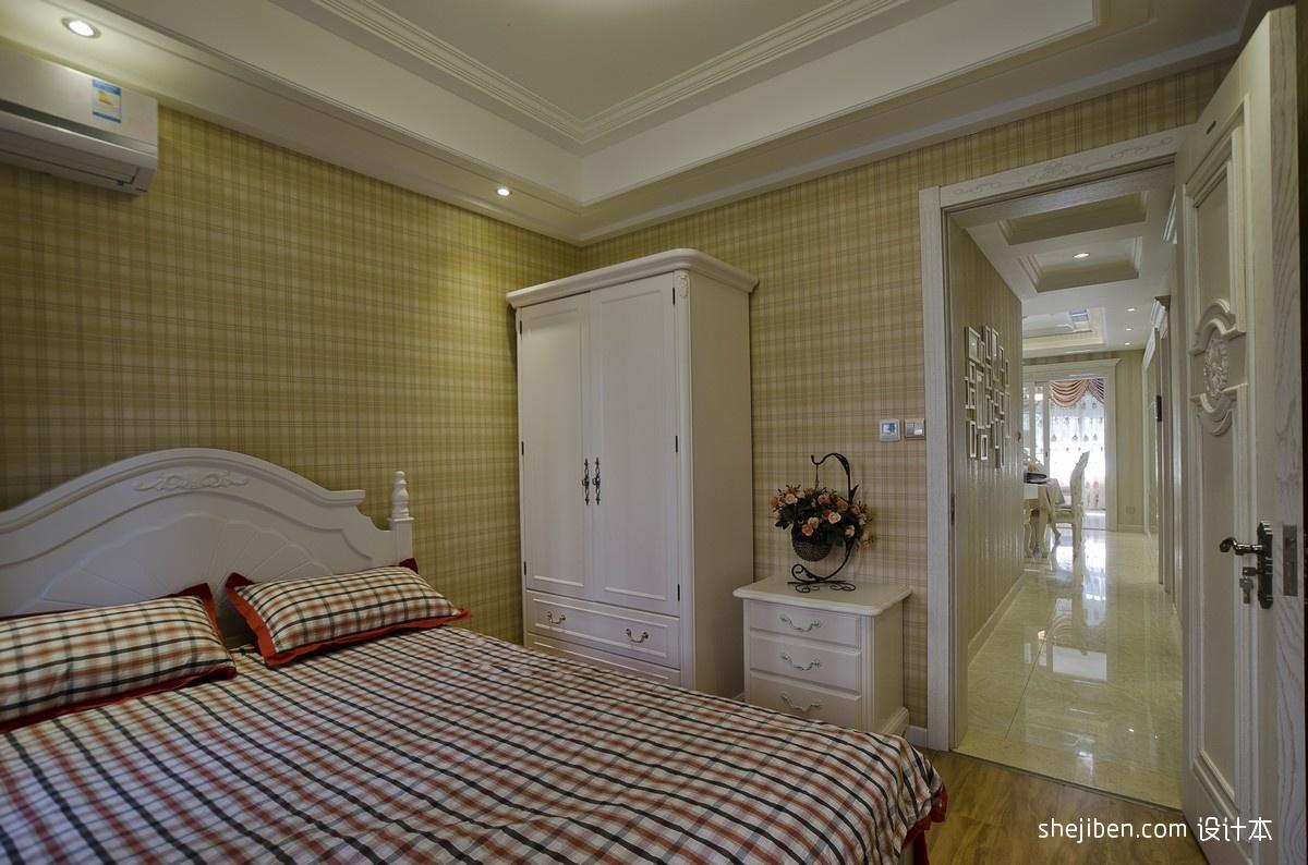 精选100平米三居卧室混搭装修欣赏图
