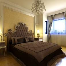 热门98平米三居卧室混搭装修实景图