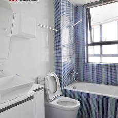 精选面积96平混搭三居卫生间装饰图片