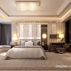 热门面积101平现代三居卧室装修实景图