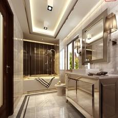精选面积108平现代三居卫生间装修效果图片欣赏