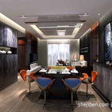 精美面积103平现代三居餐厅装修效果图片