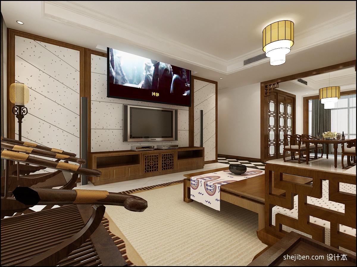 精美83平方二居客厅混搭装修效果图片欣赏