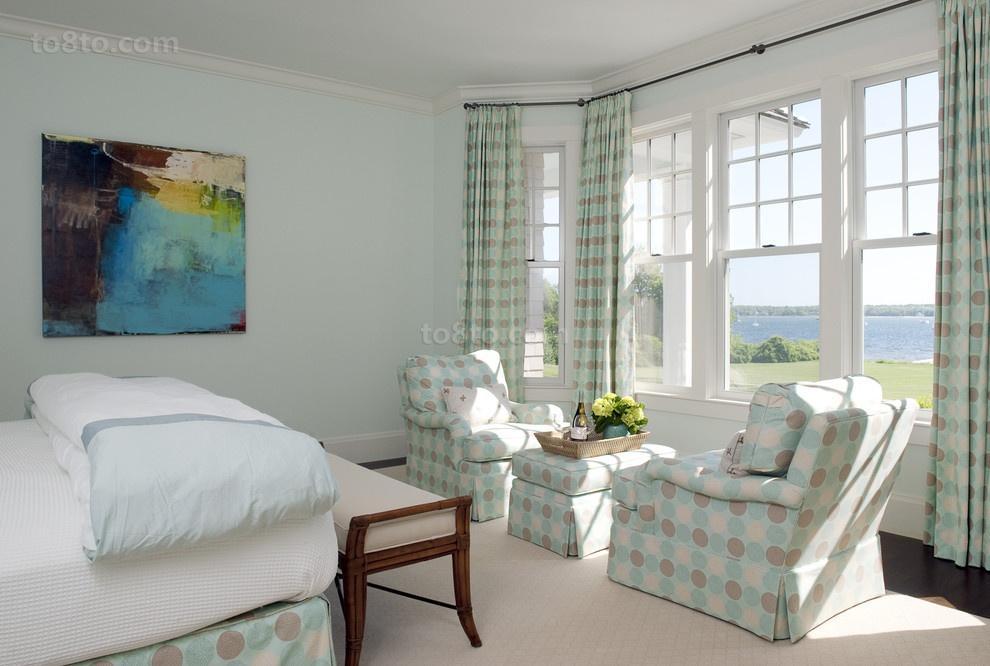 田园风格卧室窗帘装修效果图