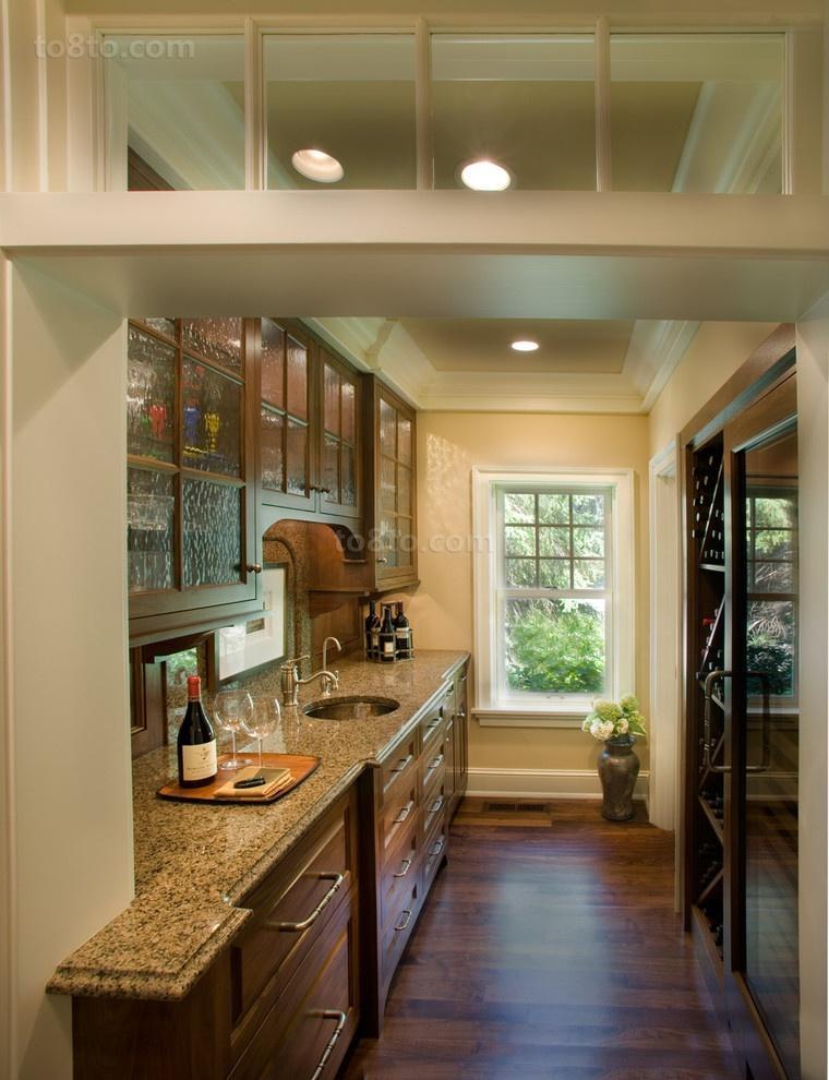 长方形别墅厨房装修效果图