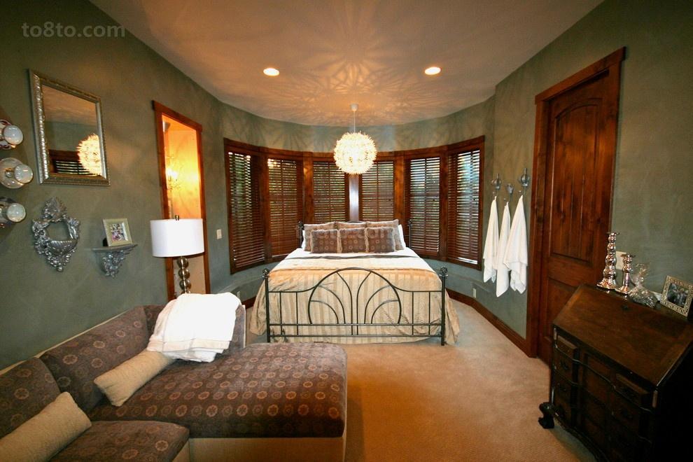 美式风格主卧室装修效果图大全2013图片