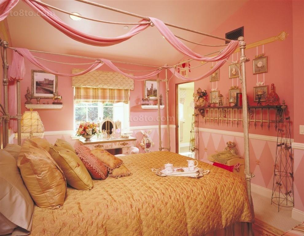 粉色主卧室装修效果图大全2012图片