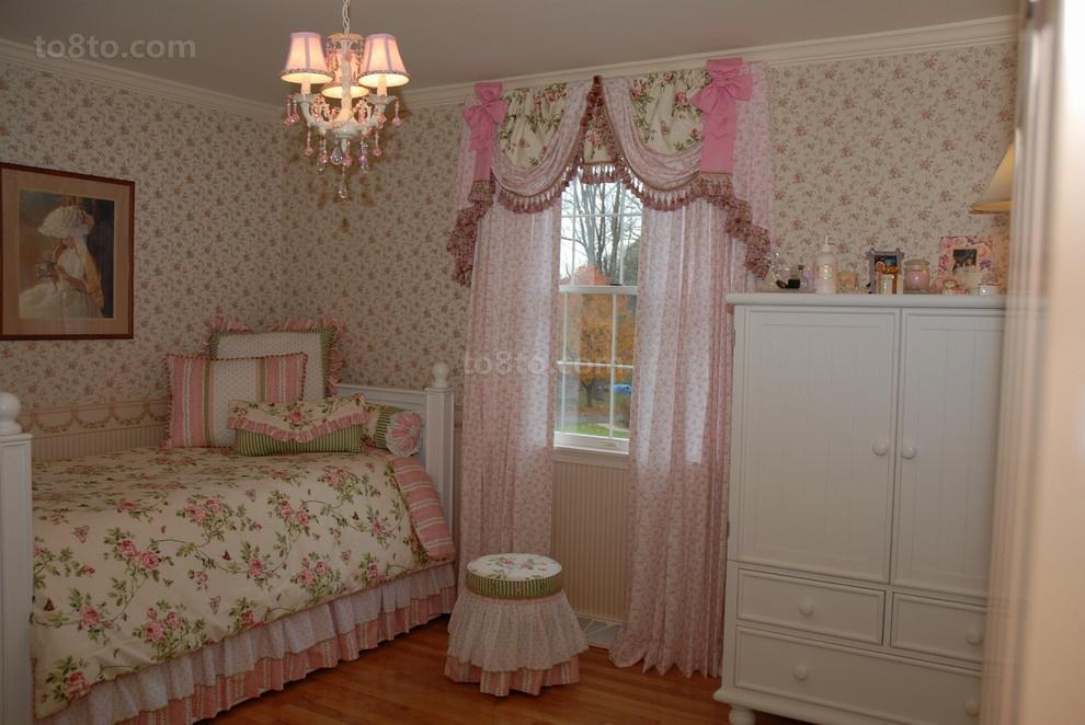 简约田园女生卧室装修效果图大全2013图片