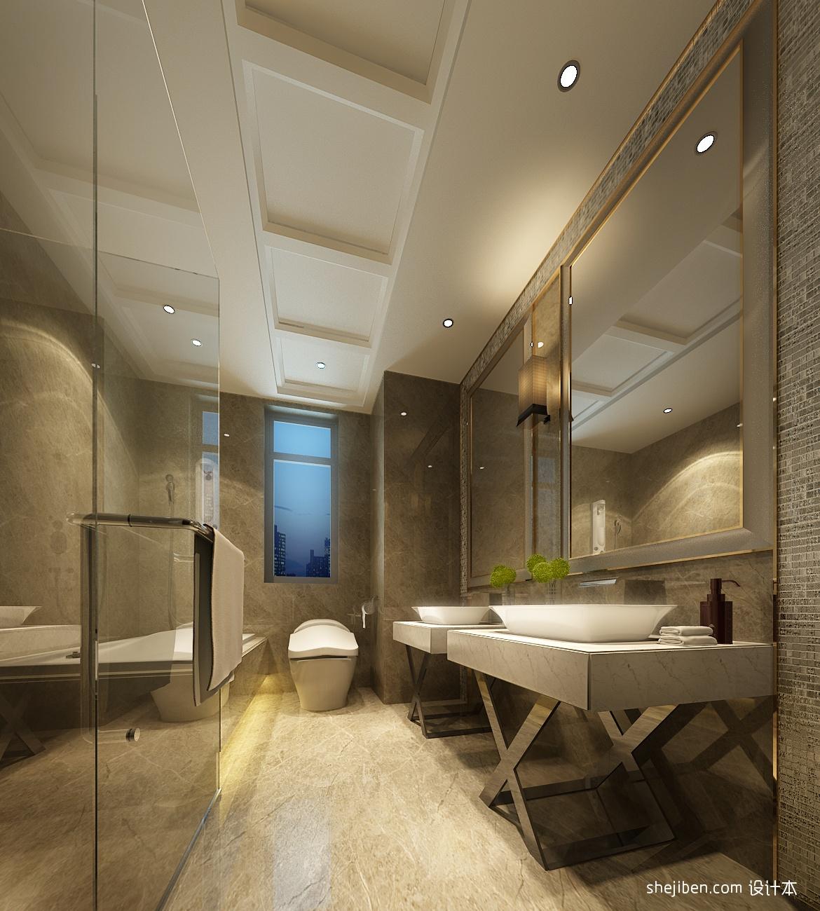 现代别墅室内卫生间装饰效果图欣赏