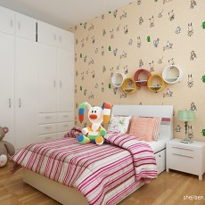 精美88平米二居儿童房混搭装修图片大全