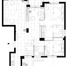 94.3平精美混搭客厅装修设计效果图片欣赏