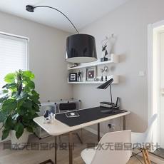 精美110平米混搭复式书房装修效果图片