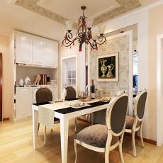精美103平方三居餐厅欧式装修设计效果图片