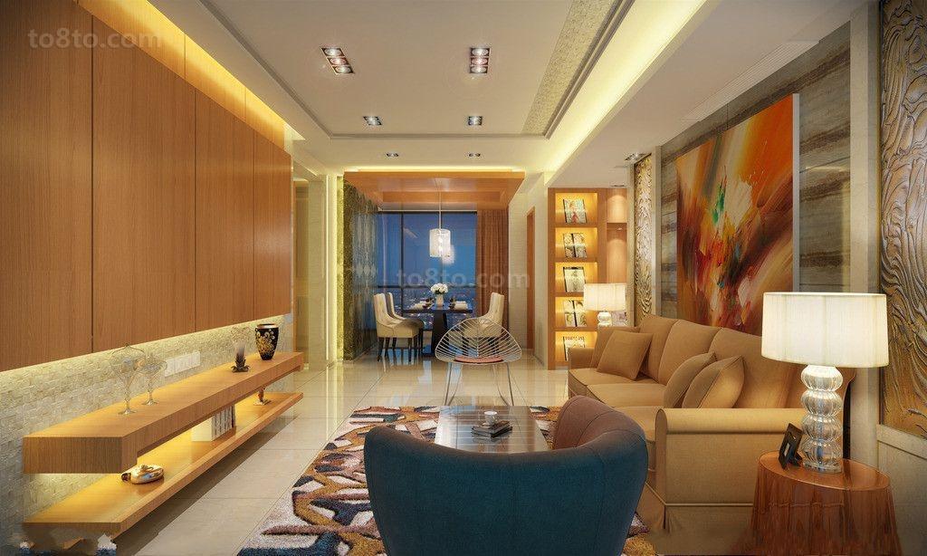 客厅双层石膏板吊顶效果图片