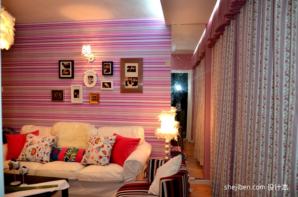 精选81平米混搭小户型客厅装饰图片