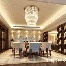 精选115平米四居餐厅中式装修图片大全