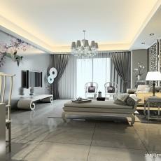 精美面积107平混搭三居客厅装修设计效果图片