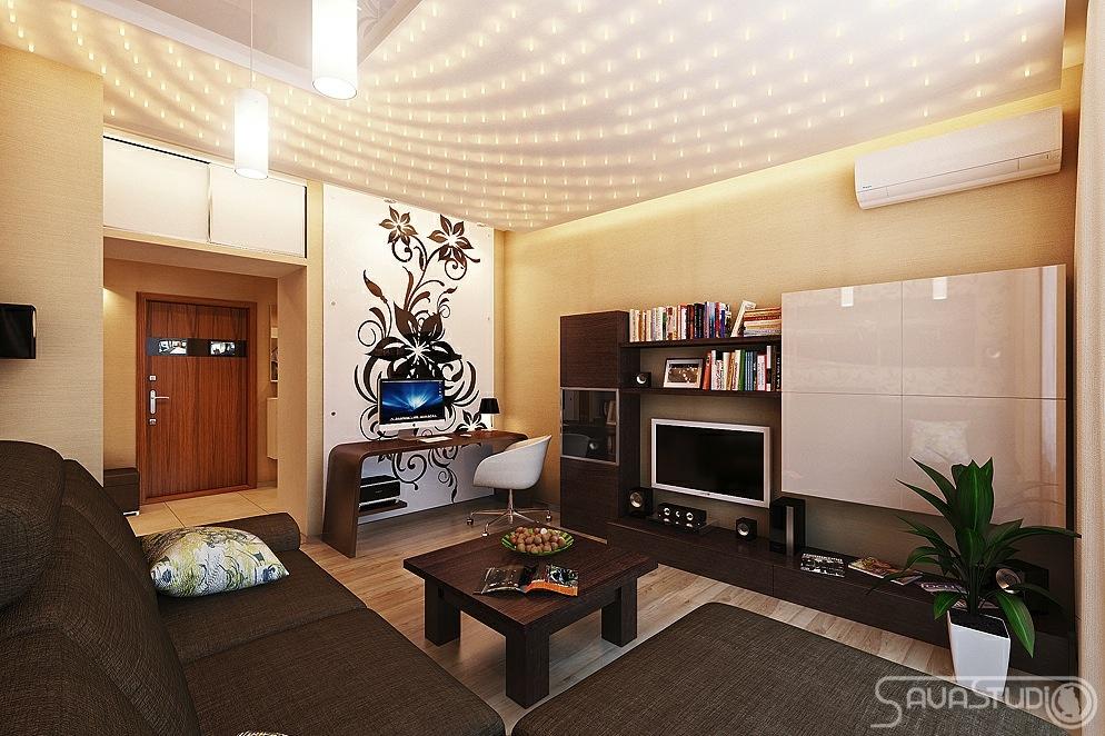 现代简约客厅灯具装修图片大全
