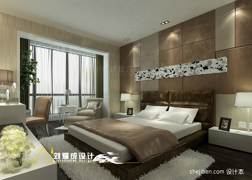 精美面积127平混搭四居卧室装修效果图